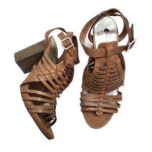Big Buddha Huarache Strappy Summer Sandal Heels